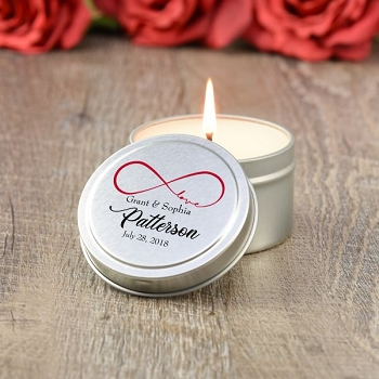 Infinite Love Wedding Favor Candle