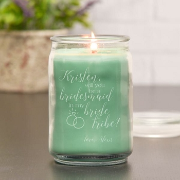 Bride Tribe Personalized Candle
