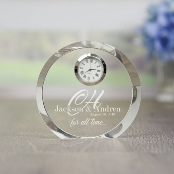 For All Time Personalized Crystal Clock