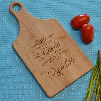 Food With Family Bamboo Cutting Board