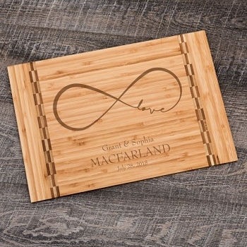 Infinite Love Personalized Cutting Board