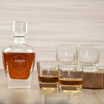 Personalized Groomsman Decanter Set