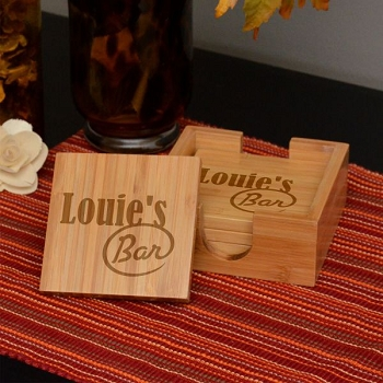 My Bar Bamboo Coaster Set