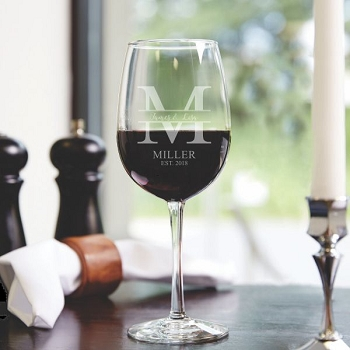 Monogram Wine Glass