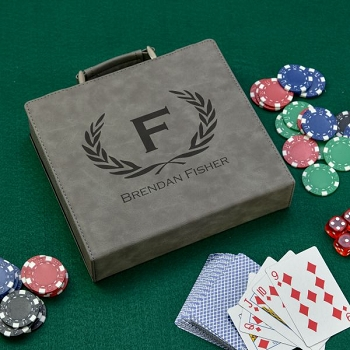 Personalized Poker Chip Set