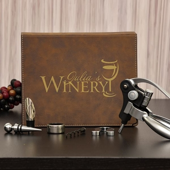 5 Piece Personalized Winery Set