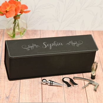 Bridesmaid Personalized Wine Box