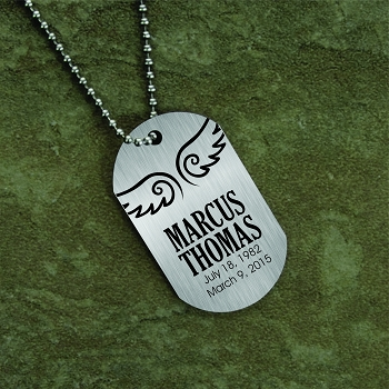An Angel Memorial Dog Tag