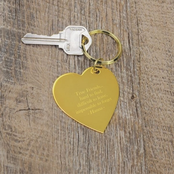 True Friends Heart Key Chain