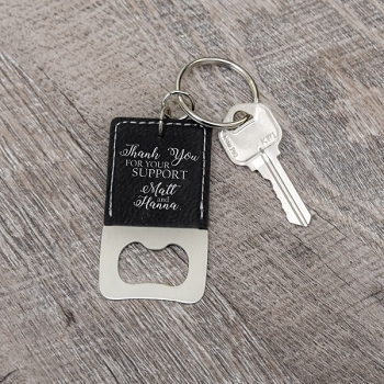 Thank You Keychain Bottle Opener Wedding Favor