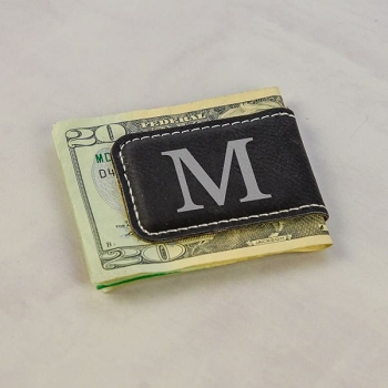 Engraved Initial Money Clip