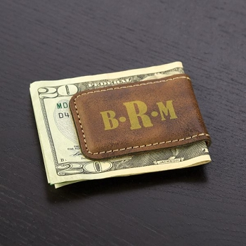 Personalized Monogram Money Clip