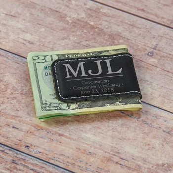 Monogram Groomsmen Money Clip