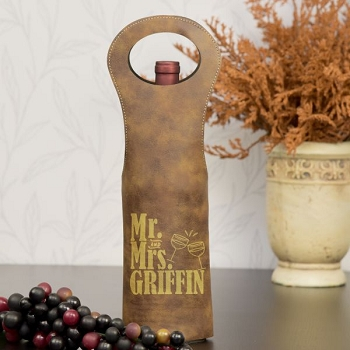 Mr. and Mrs. Personalized Wine Bag