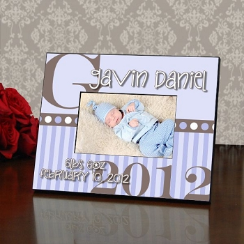 Baby Boy Personalized Color Picture Frame