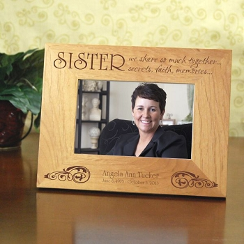 Sisters Share so Much Picture Frame
