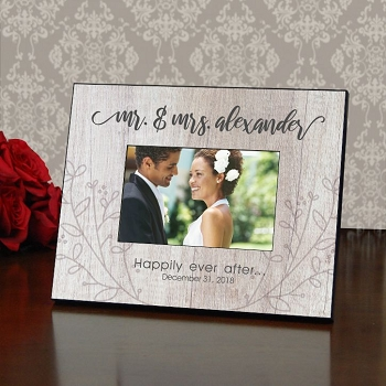Mr. & Mrs. Rustic Wedding Frame