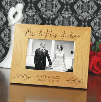 Mr. & Mrs. Personalized Wood Frame