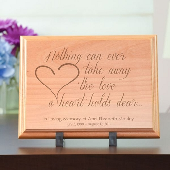 The Love a Heart Holds Dear Plaque