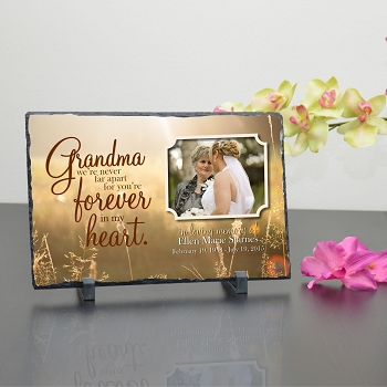 Grandma In My Heart Memorial Plaque