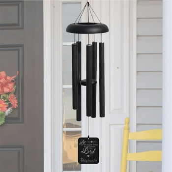 We Will Serve the Lord Pewter Wind Chime