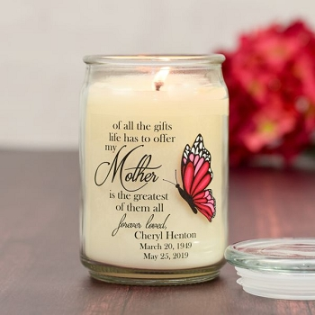 Greatest Gift is Mother Memorial Candle