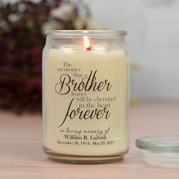 Forever My Brother Memorial Jar Candle