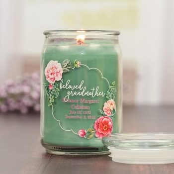 Beloved Grandmother Memorial Jar Candle