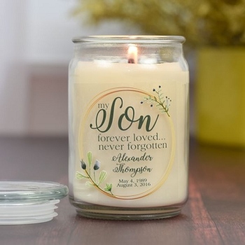 Beloved Grandfather Memorial Jar Candle