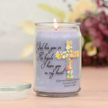 In God's Hands Memorial Jar Candle