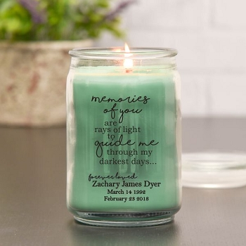 Darkest Days Memorial Jar Candle