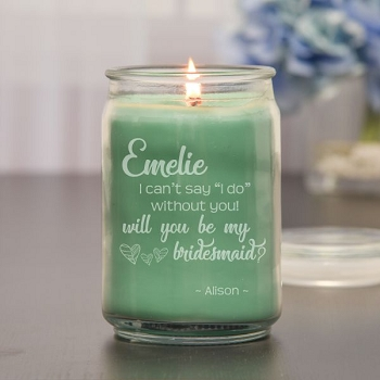 Be My Bridesmaid Personalized Candle