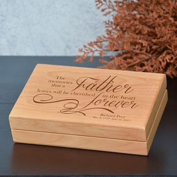 Memories of Father Keepsake Box