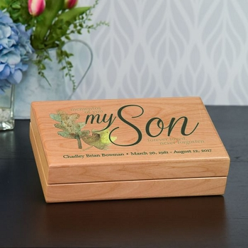 Mementos of My Son Keepsake Box
