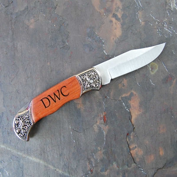 Hunting Knife with Rosewood Handle