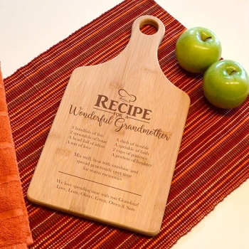 Recipe for a Wonderful Grandmother Cutting Board