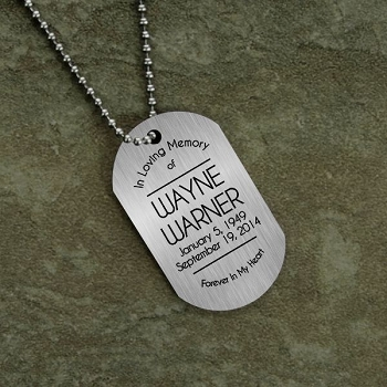 In Loving Memory Dog Tag