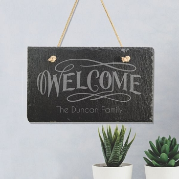 Welcome Hanging Sign for Families