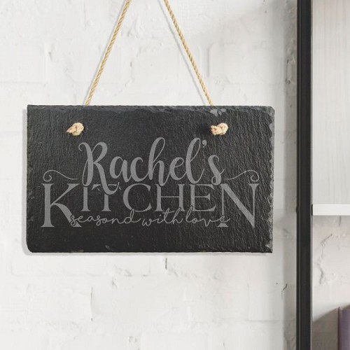 Her Kitchen Slate Sign