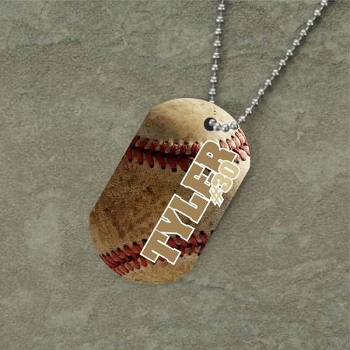 Personalized Baseball Dog Tag