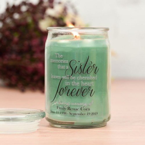 Forever My Sister Memorial Jar Candle