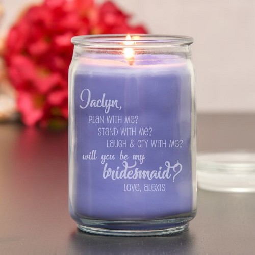 Stand with Me Bridesmaid Candle