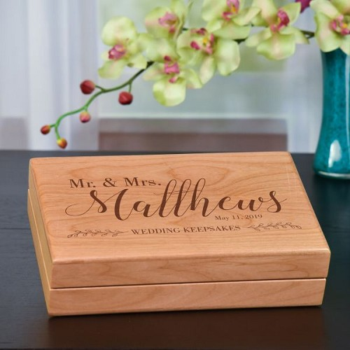 Mr. & Mrs. Wedding Keepsakes Box