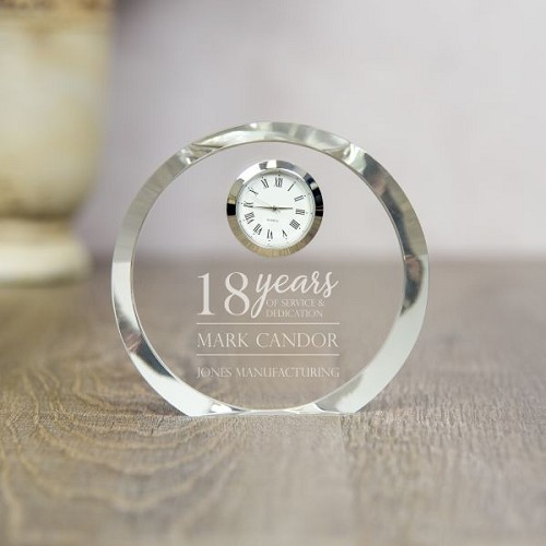 Dedicated Service Crystal Clock