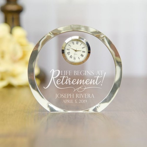 Life Begins at Retirement Personalized Clock