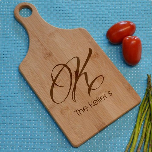 Family Initial Cutting Board