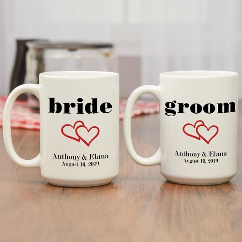 Bride and Groom Coffee Mugs