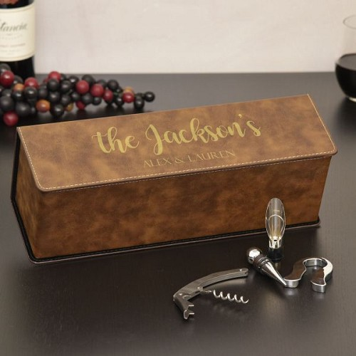 Family Name Personalized Wine Box