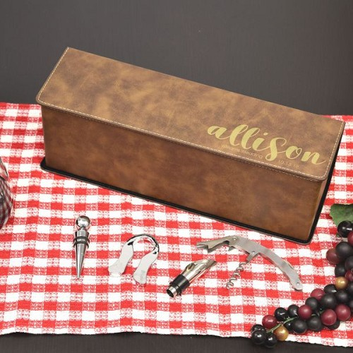 Bridal Party Personalized Wine Box