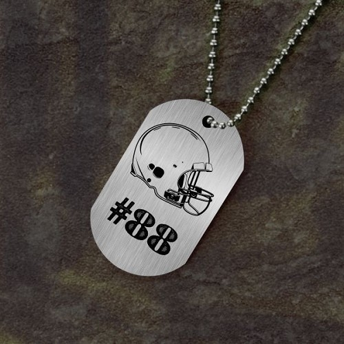 Jersey Number Football Dog Tag